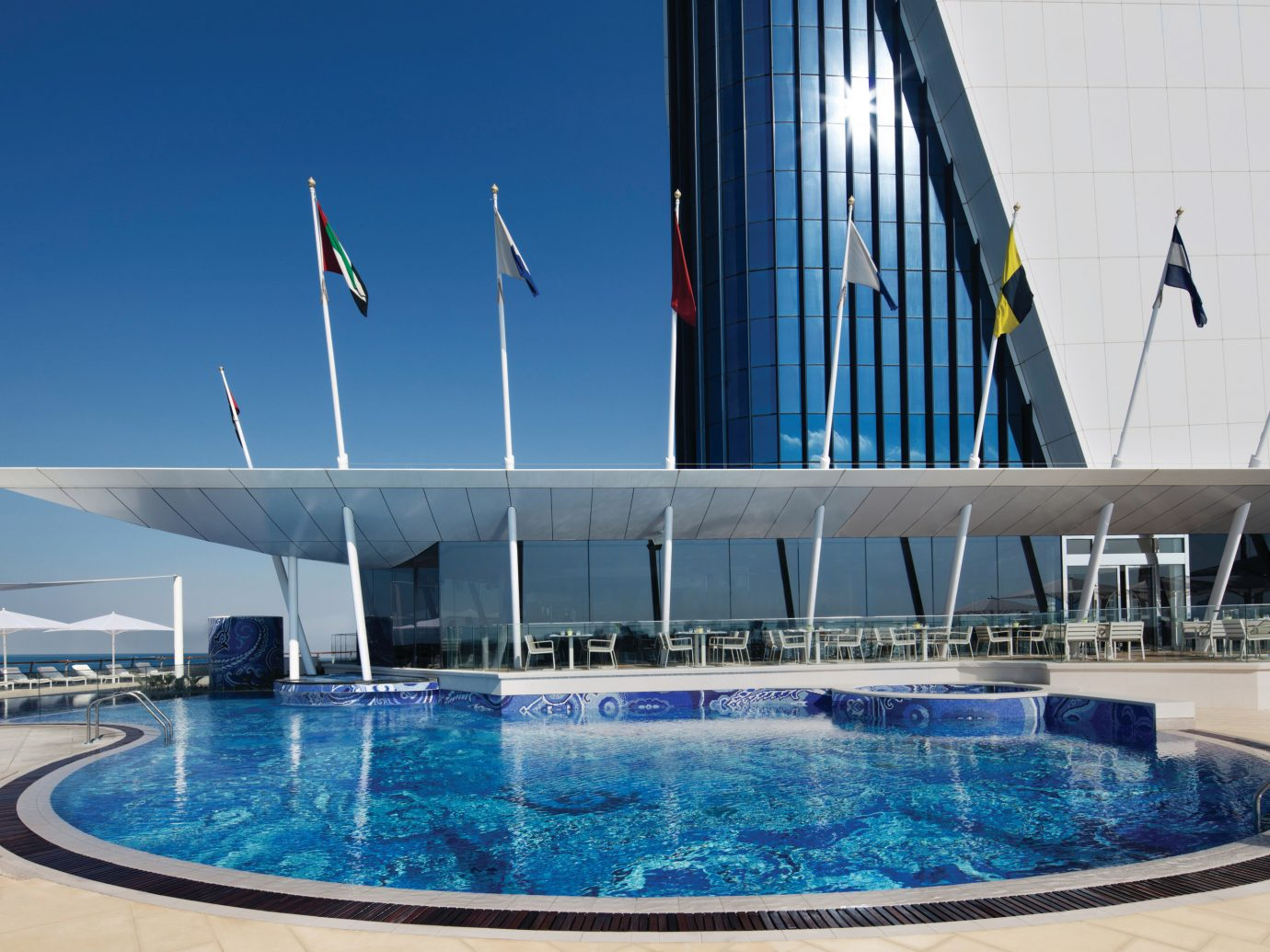 Dubai Hotels Luxury Travel Middle East swimming pool leisure water leisure centre condominium hotel building corporate headquarters Resort water feature vacation