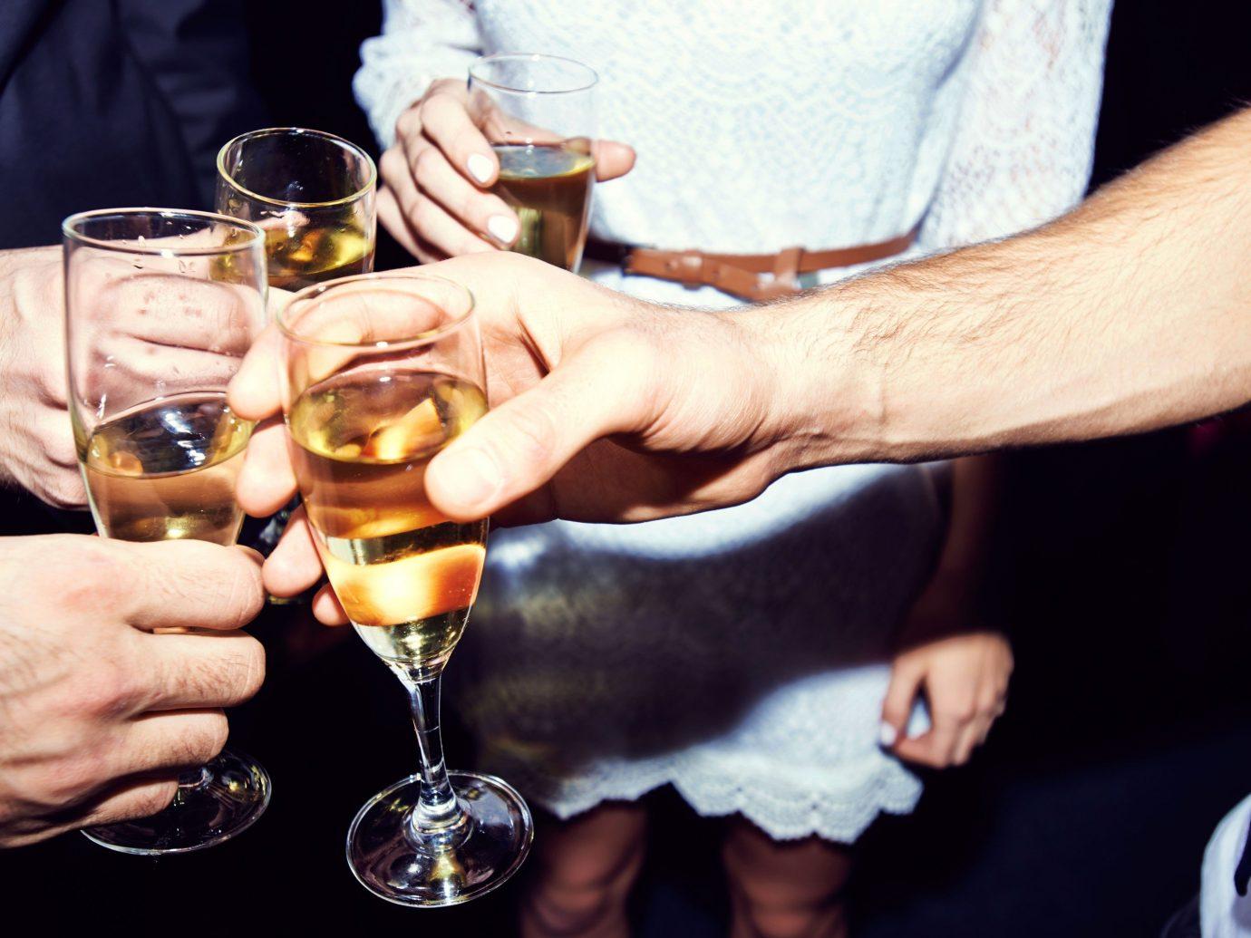 Offbeat person wine table glasses alcoholic beverage alcohol Drink wine glass hand sense glass stemware