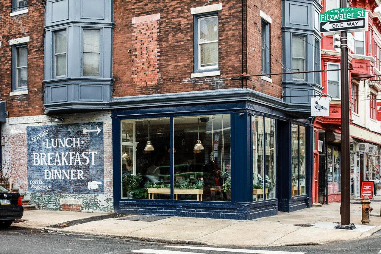 Food + Drink Phildelphia neighbourhood City building facade window street Downtown house door