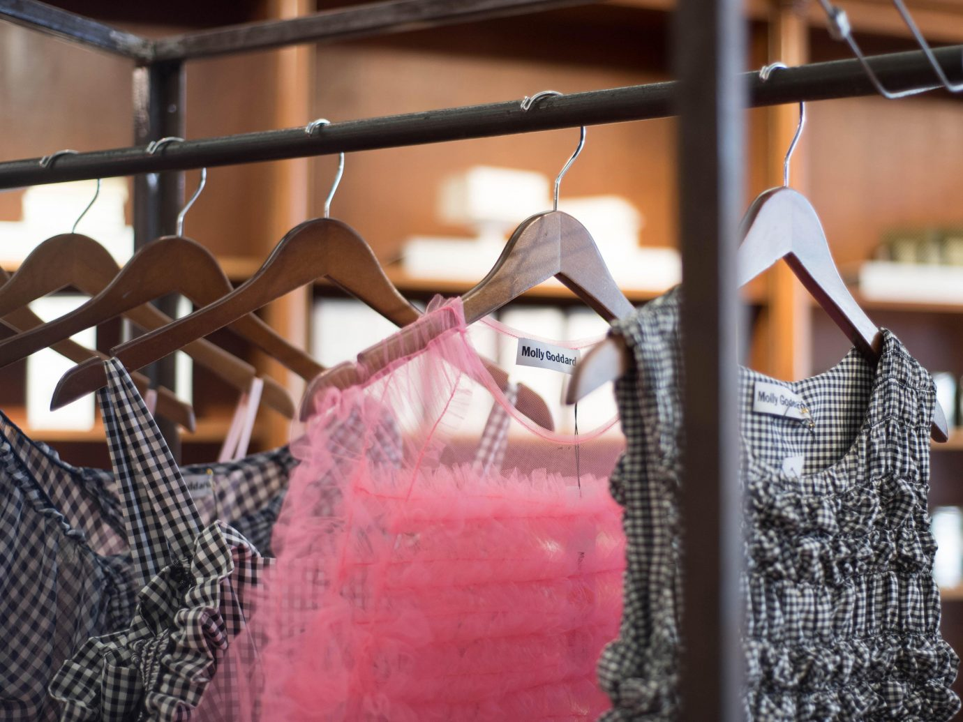 Dresses hanging at Worthwhile