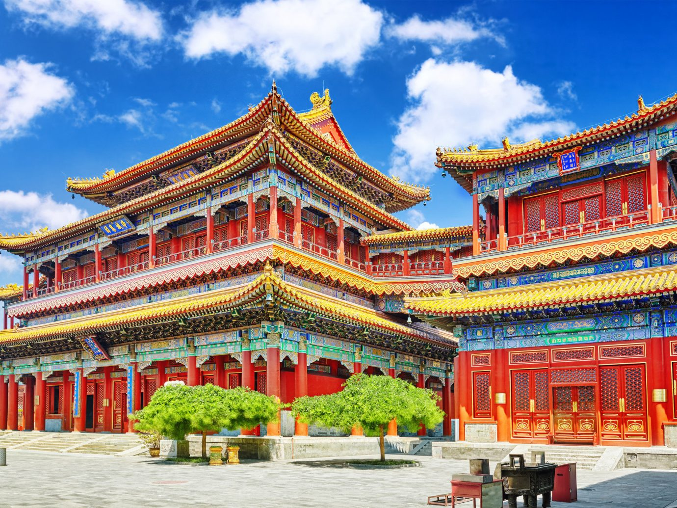 Trip Ideas sky place of worship chinese architecture lamasery temple building historic site landmark hindu temple palace pagoda tower shrine shinto shrine orange colorful