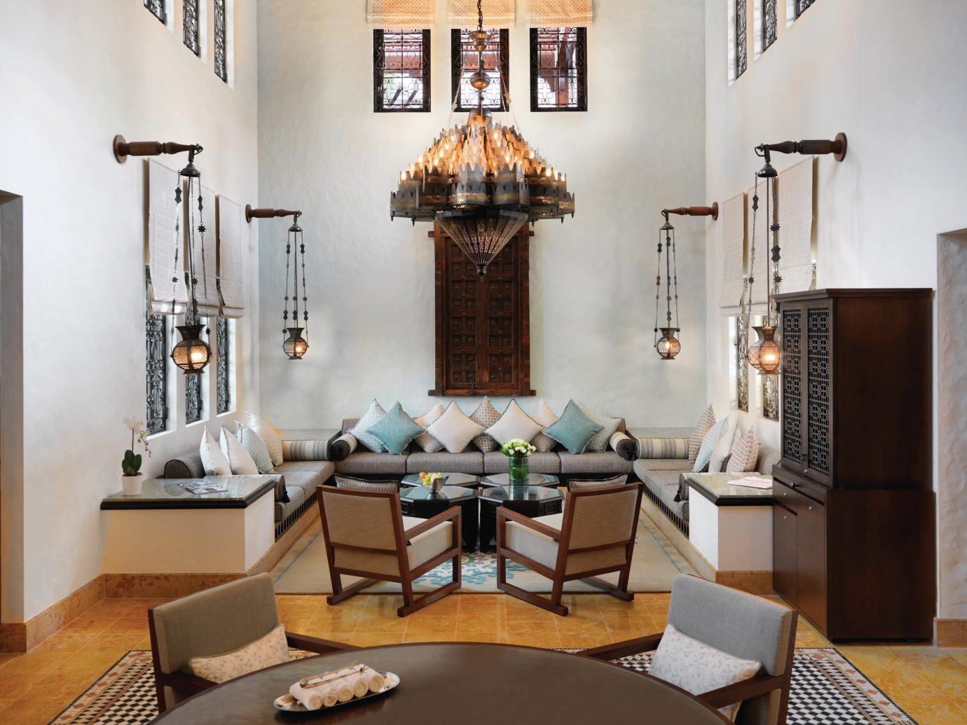 Dubai Hotels Luxury Travel Middle East wall indoor table floor room living room interior design Living furniture dining room home ceiling interior designer