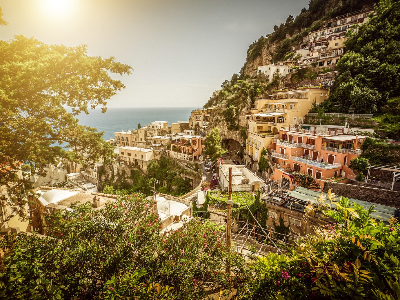 europe Outdoors + Adventure Trip Ideas tree outdoor sky Town Nature human settlement Village vacation rural area canyon landscape ancient history Ruins flower hillside lush