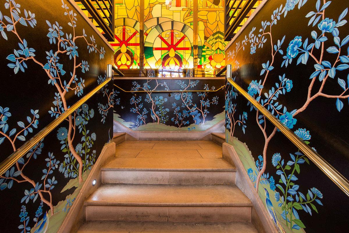 Stairway at China Tang in Mayfair, London