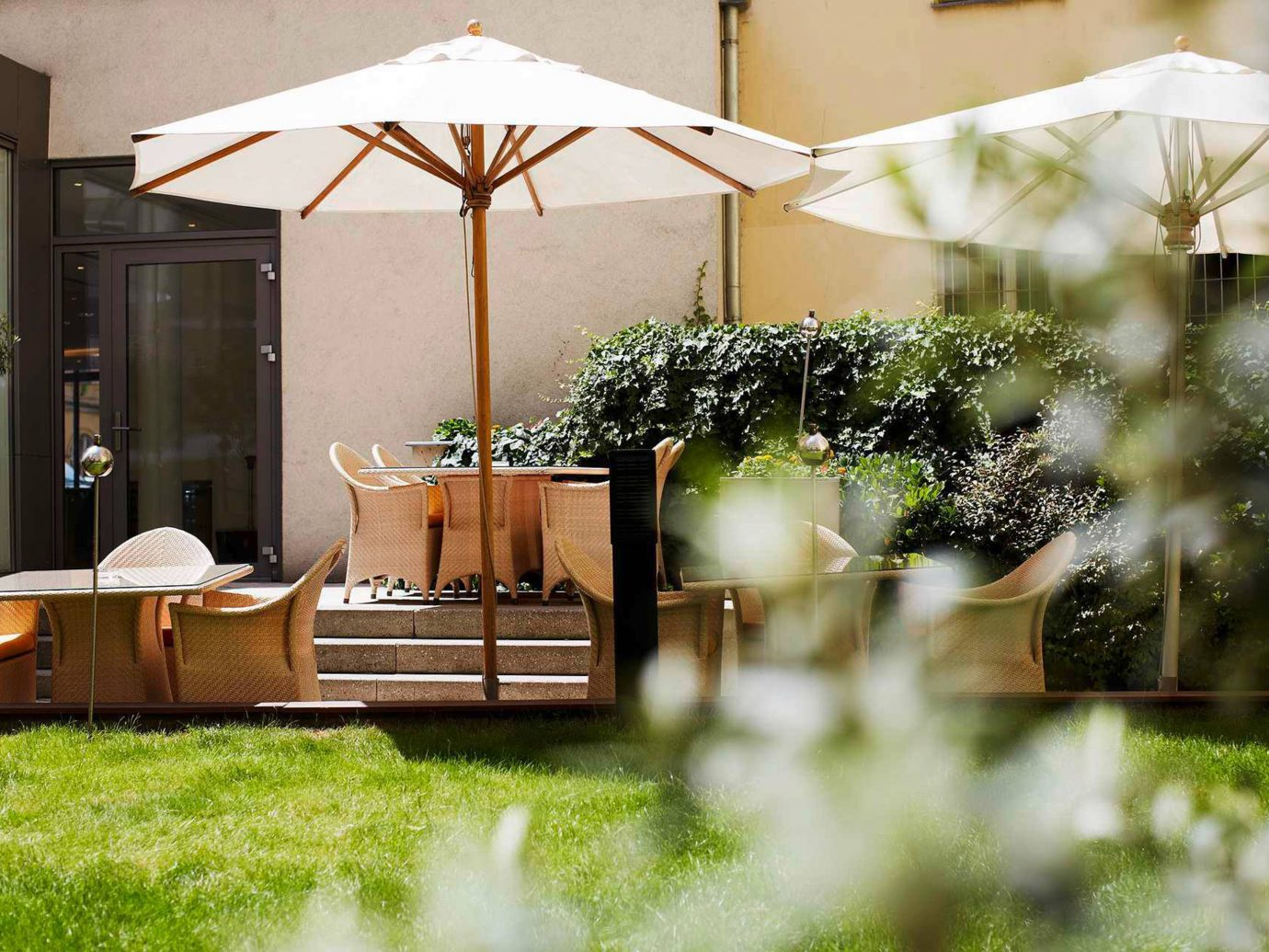 europe Grounds Hotels Living Lounge Prague grass outdoor backyard house home estate outdoor structure flower area furniture