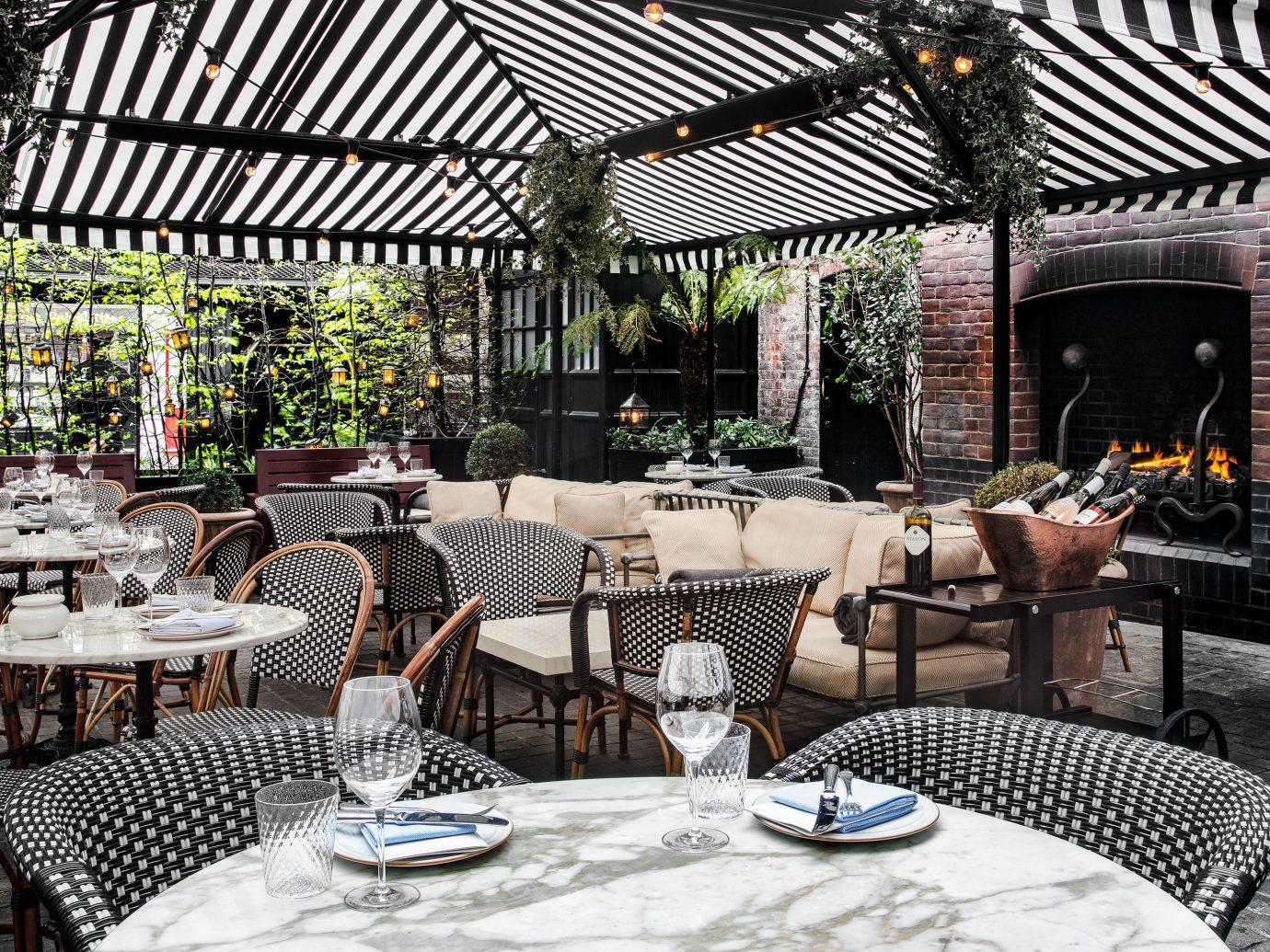 England europe London Luxury Travel Trip Ideas restaurant Patio outdoor structure table furniture interior design Resort