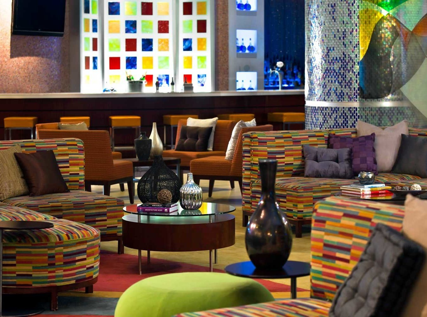 All-Inclusive Resorts Bar Budget caribbean Casino Drink Hotels Lounge Luxury Nightlife Resort color indoor living room room home interior design Lobby Design furniture colorful
