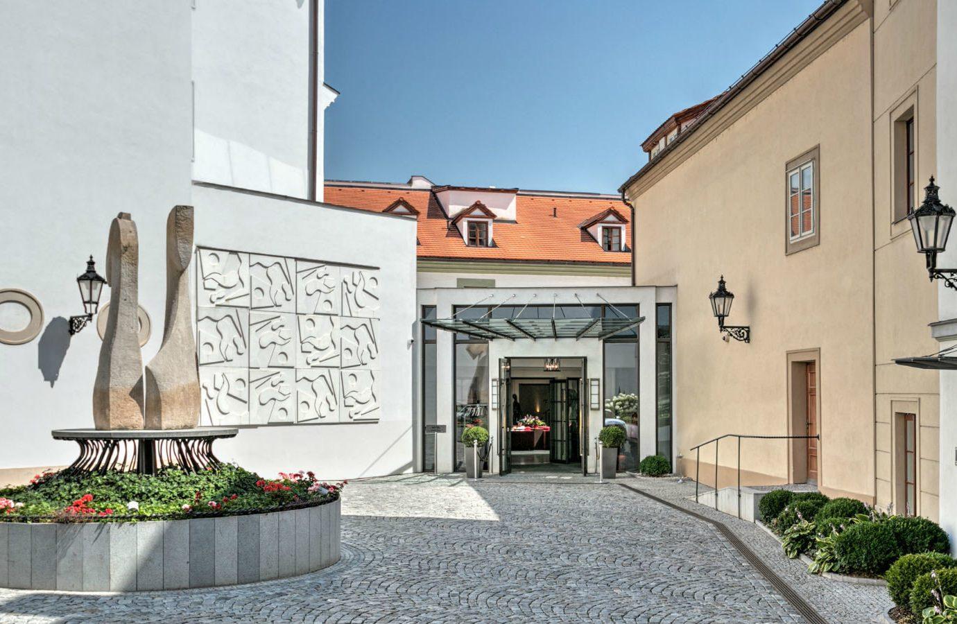 europe Hotels Prague property neighbourhood real estate facade building estate window house Courtyard hacienda