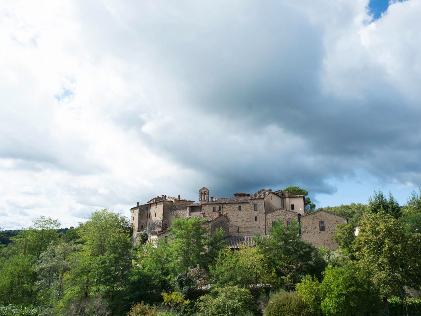 europe Hotels Italy Romance sky tree outdoor building cloud hill rural area estate castle Village day