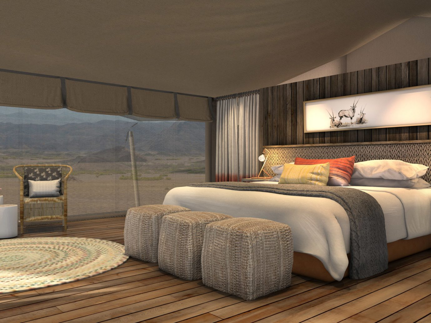 africa Honeymoon Namibia Romance Trip Ideas indoor wall room ceiling interior design bed bed frame Bedroom Suite hotel interior designer furniture window area decorated