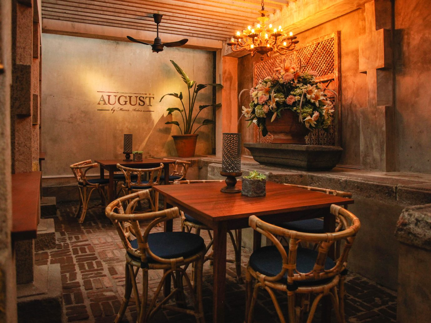 August by Mama Aida's food colombo meal social seat chair