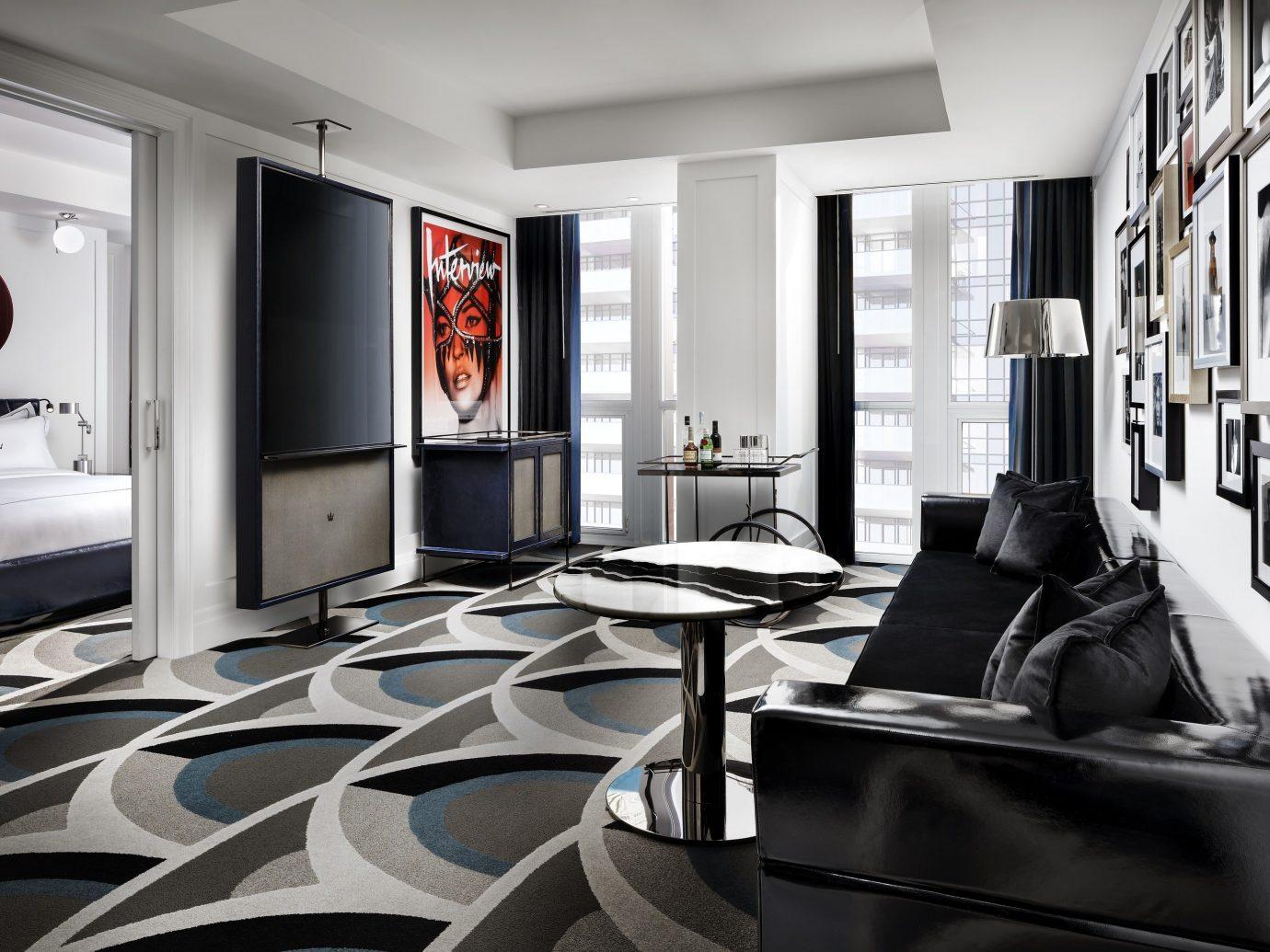 Canada Hotels Toronto indoor wall window ceiling room interior design Living living room floor furniture product design flooring interior designer angle computer Modern