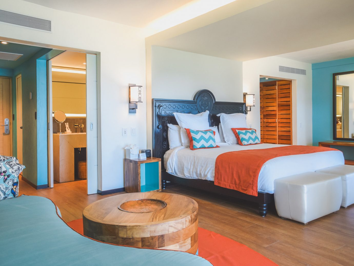 All-Inclusive Resorts caribbean Family Travel Hotels indoor wall ceiling floor room sofa Living Suite Bedroom interior design real estate furniture hotel estate bed boarding house bed sheet wood flat decorated