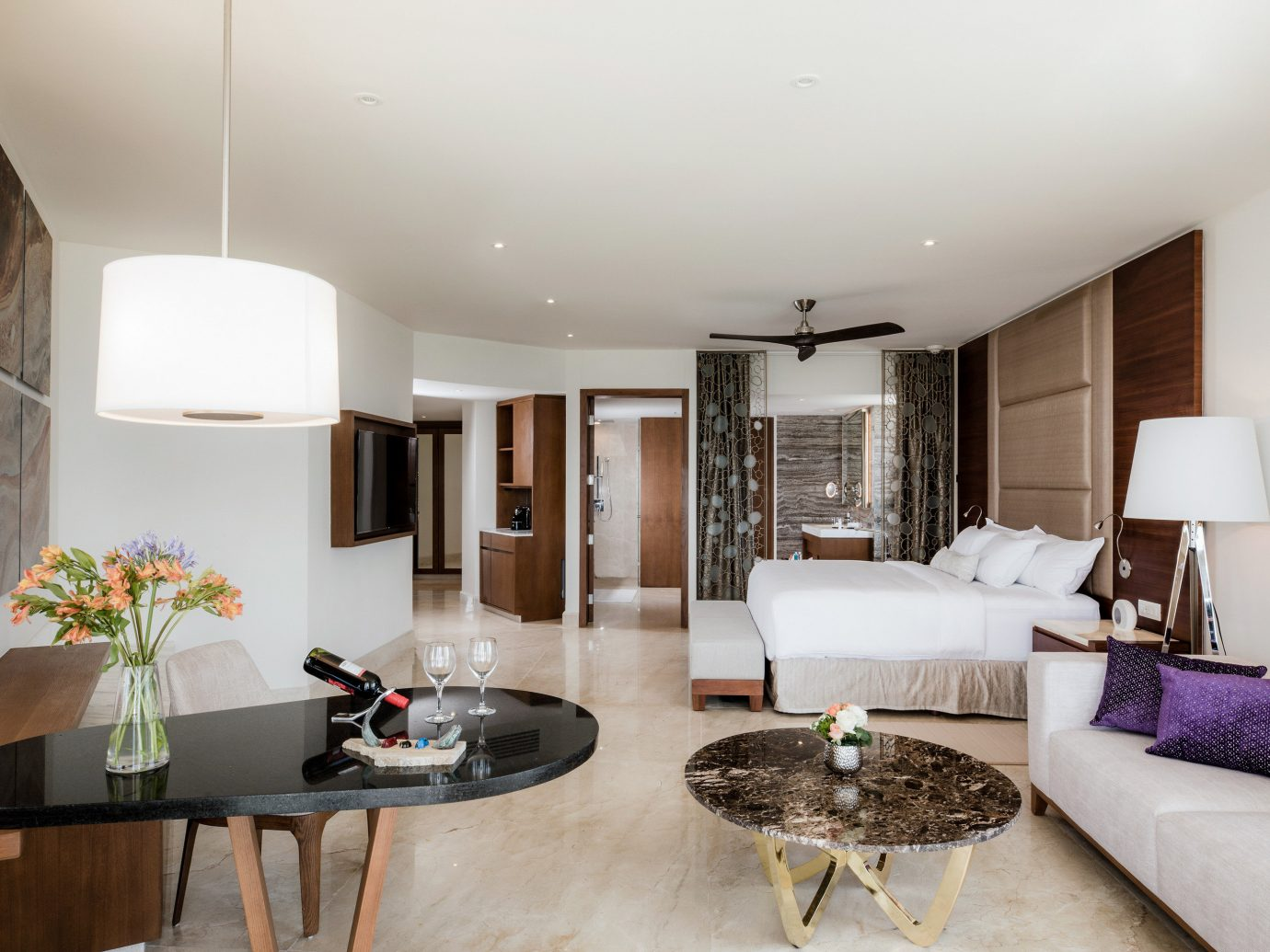 Adult-only All-Inclusive Resorts Cancun Hotels Mexico indoor wall floor room Living interior design ceiling living room furniture real estate Suite interior designer apartment penthouse apartment house decorated flat area wood several