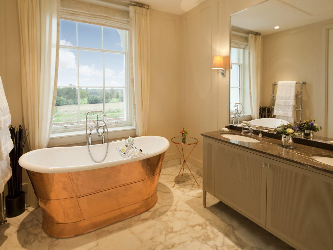 England europe London Luxury Travel Romantic Hotels Trip Ideas indoor window floor wall room bathroom interior design estate real estate home tub Suite flooring bathtub Bath furniture