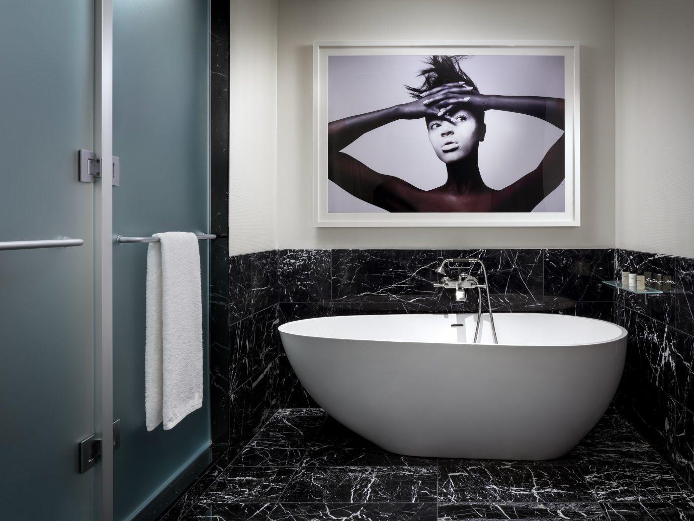 Canada Hotels Toronto wall bathroom indoor room interior design plumbing fixture white sink tap product design bathroom accessory floor flooring angle