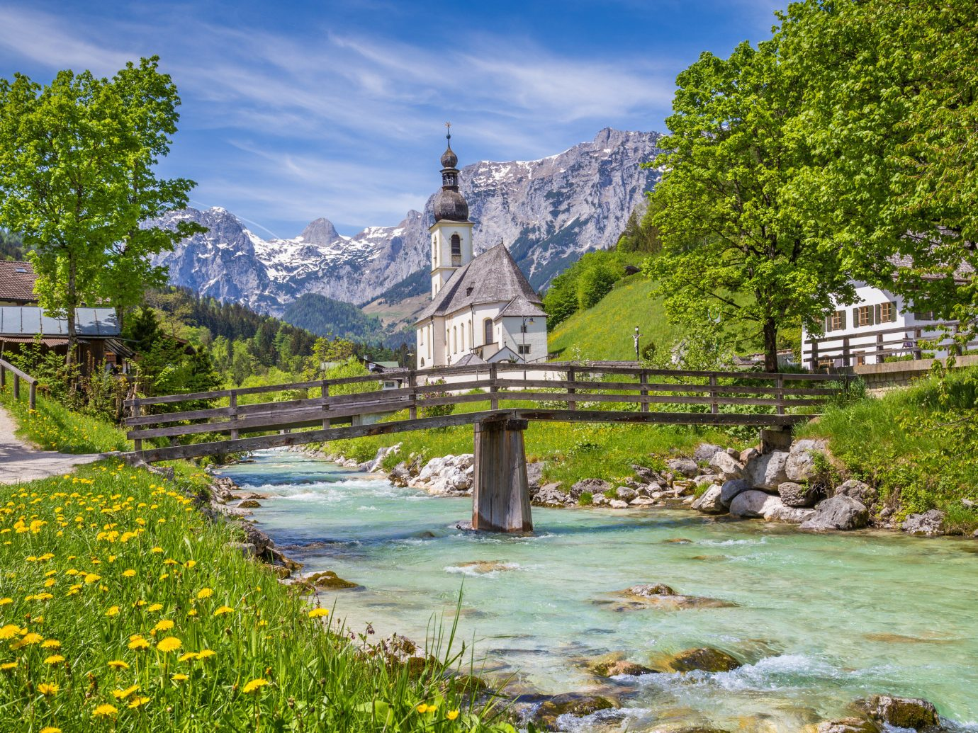 Berlin europe Germany Trip Ideas Nature water wilderness River watercourse sky bank reflection leaf tree mount scenery mountain plant fluvial landforms of streams landscape mountain range national park stream tourist attraction alps grass bridge Village