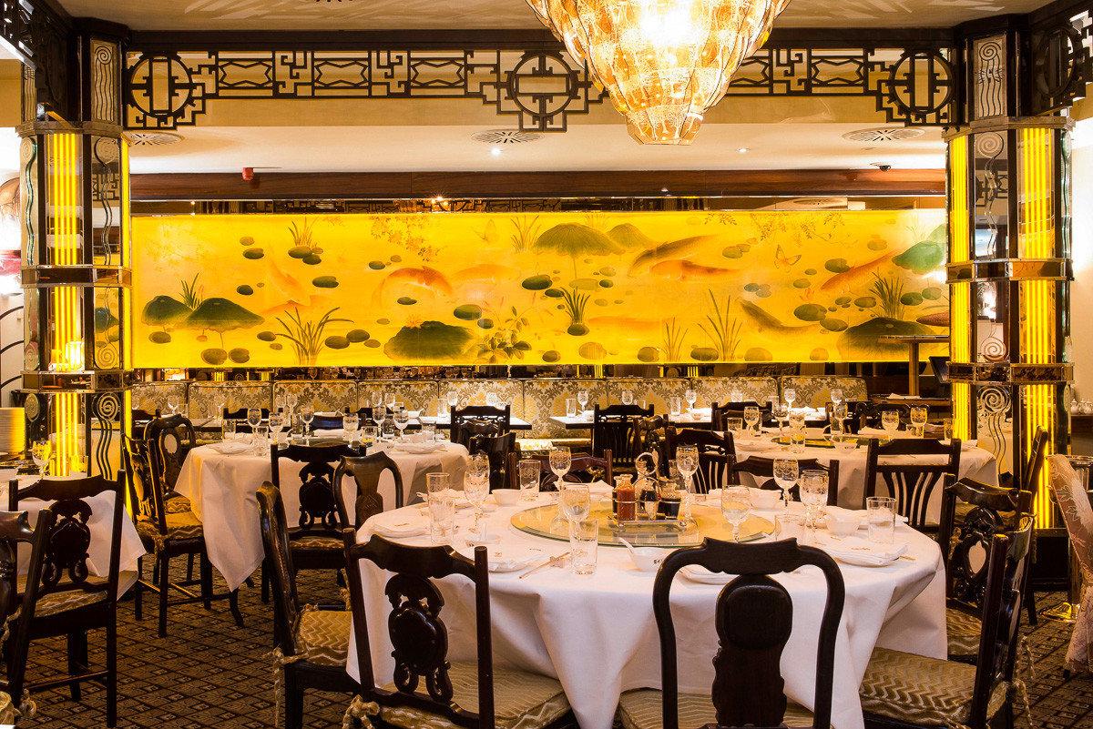 Beautiful Dinging Room tables at China Tang in Mayfair, London