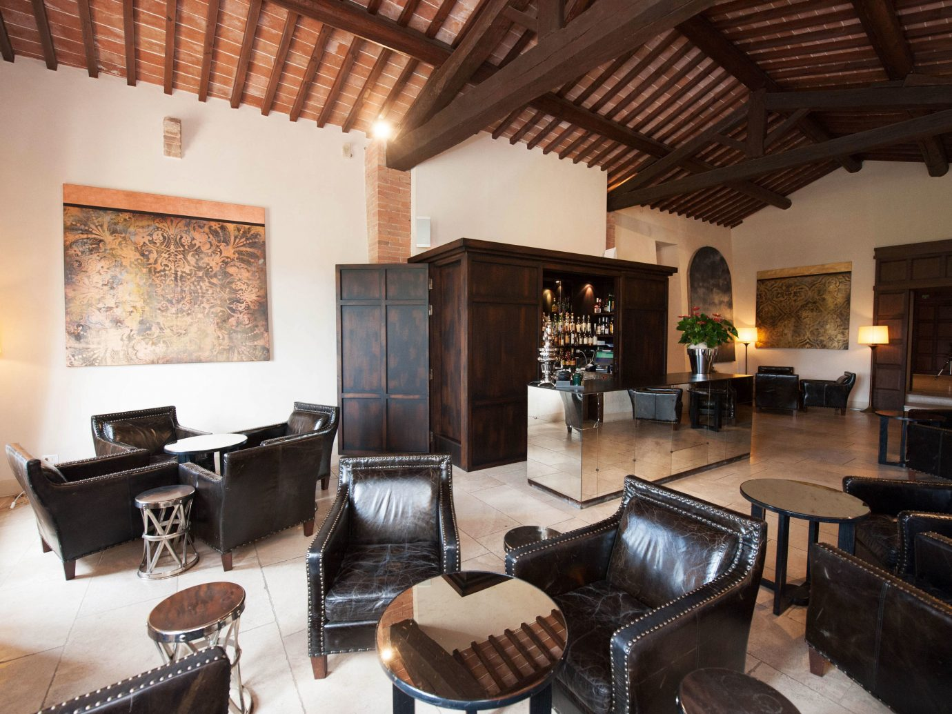 europe Hotels Italy Romance indoor Living room floor ceiling property furniture living room building estate home Fireplace Villa interior design real estate cottage area recreation room loft leather decorated