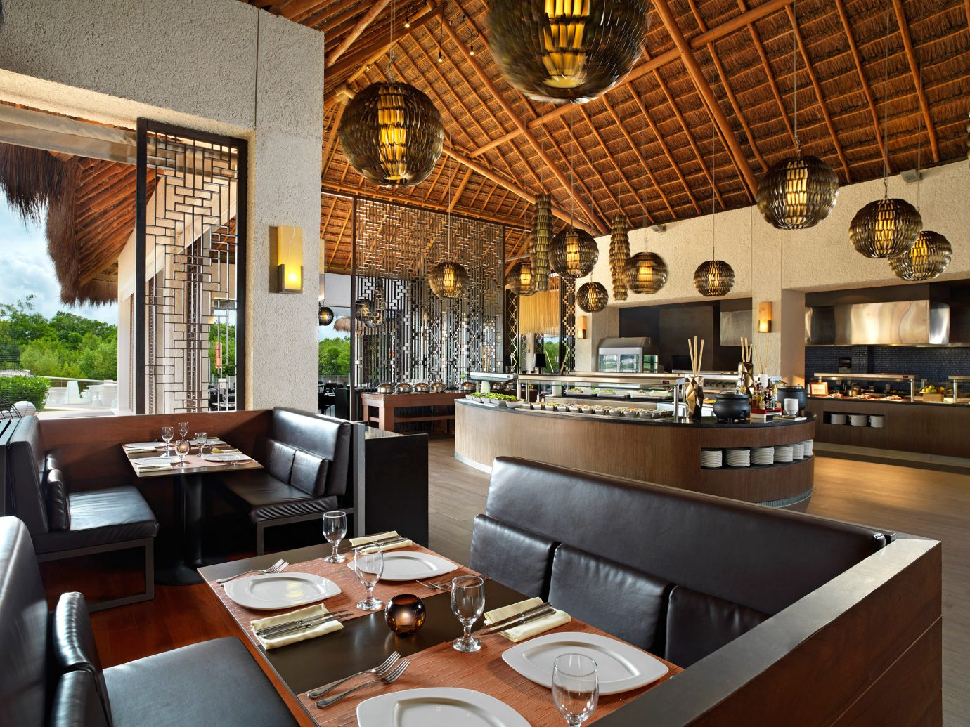 All-Inclusive Resorts Bar caribbean Dining Family Travel Hotels Modern indoor table property room estate restaurant interior design home real estate living room Lobby