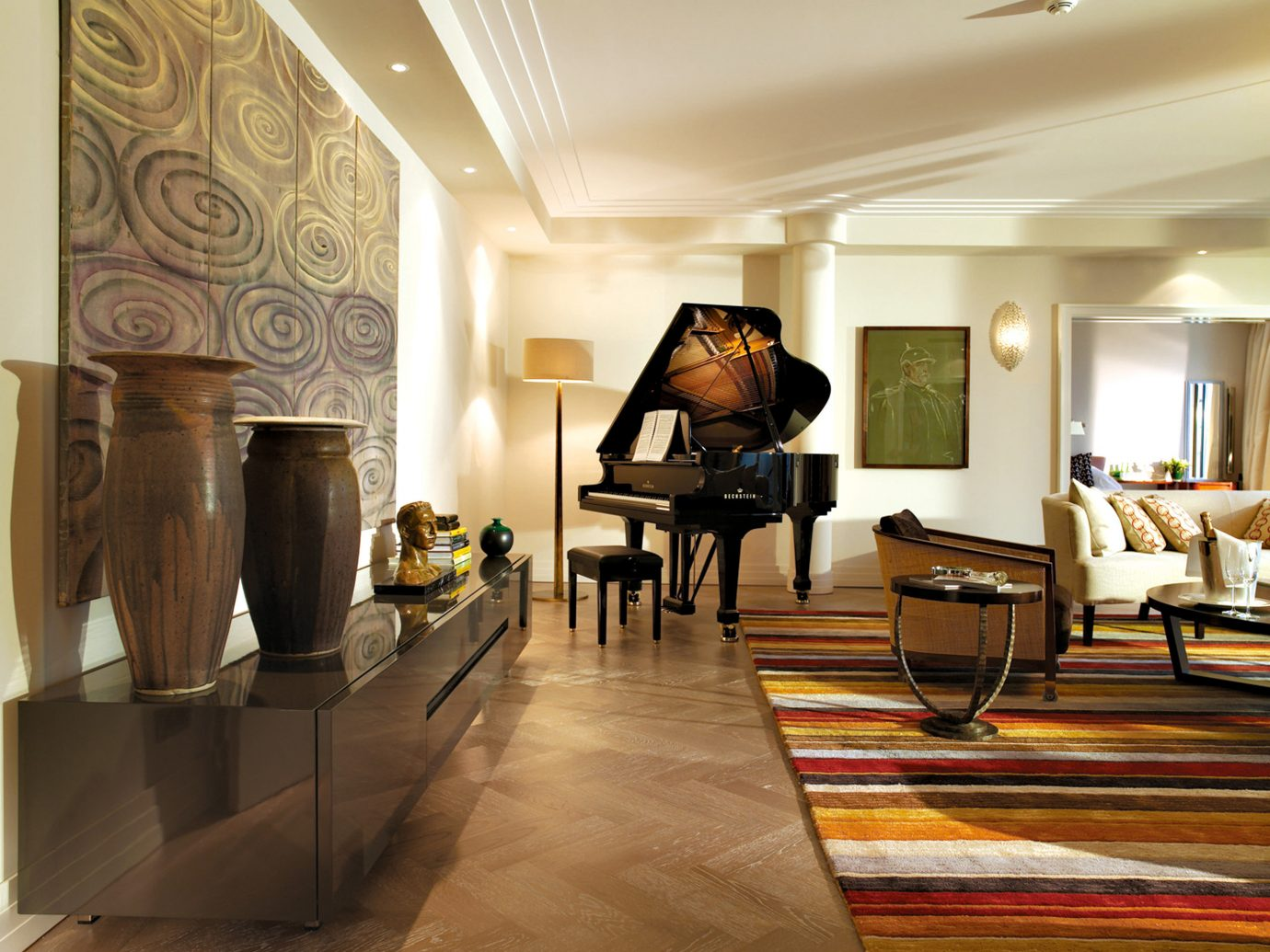 europe Germany Hotels Living Lounge Luxury Modern Munich indoor floor room ceiling wall Lobby property interior design home living room flooring estate Design furniture Boutique hall tourist attraction area decorated