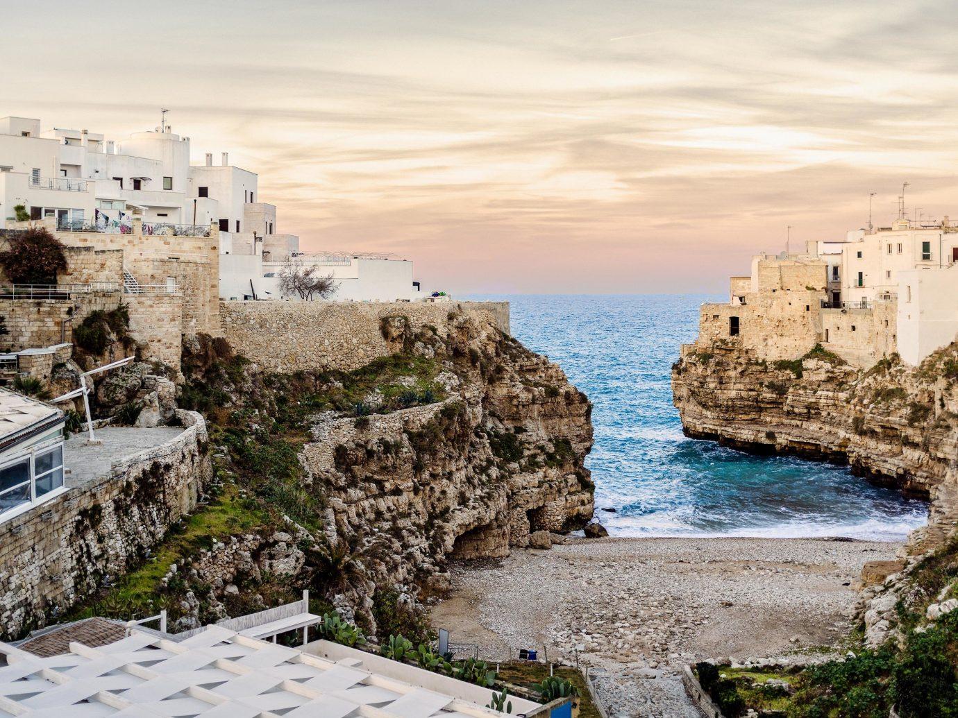 europe Italy Off-the-beaten Path Trip Ideas Sea sky Coast water shore tourism terrain Ocean coastal and oceanic landforms City building cliff rock