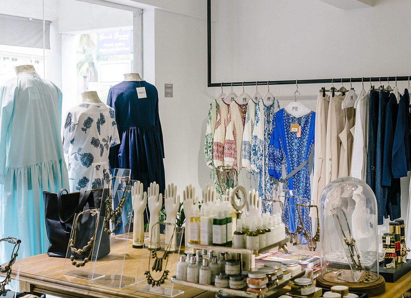 blue Boutique outerwear interior design retail window
