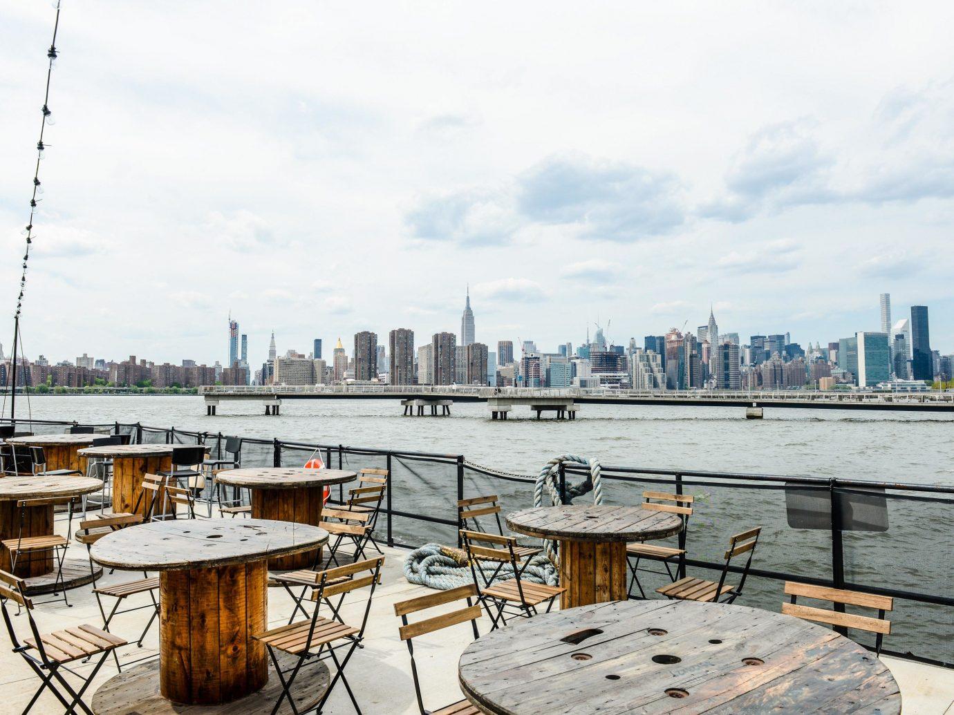 Food + Drink NYC water City sky skyline dock marina real estate Sea recreation roof