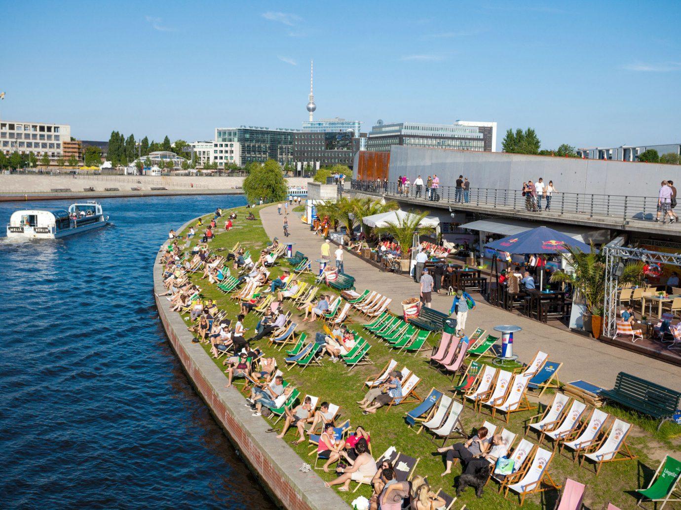 Berlin Germany Munich Trip Ideas sky water outdoor Boat walkway tourism waterway River boating endurance sports Water park boardwalk marina Harbor