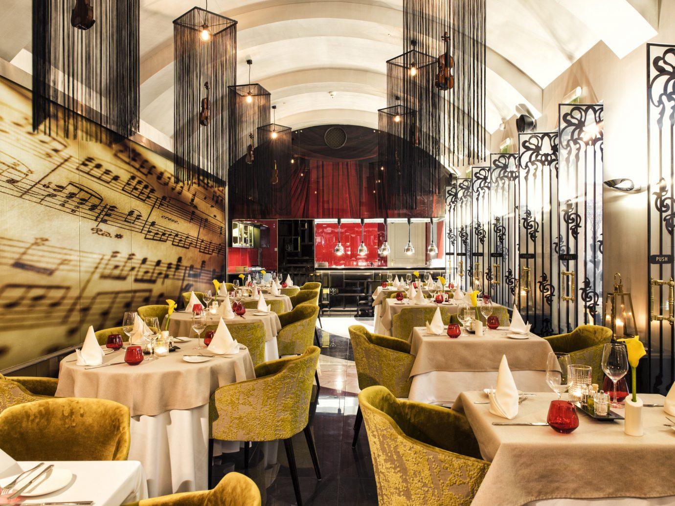 Budapest europe Hotels Hungary table indoor meal function hall restaurant Lobby interior design ballroom