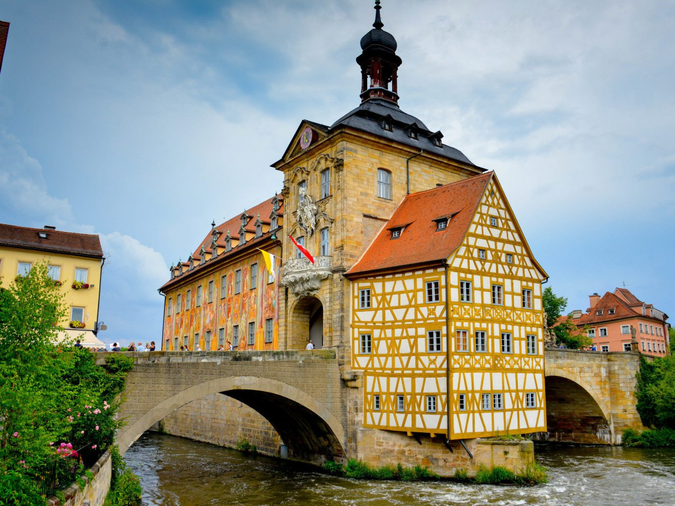 Berlin europe Germany Trip Ideas sky building outdoor Town landmark house tourism vacation waterway River tower château rural area old Village yellow Church middle ages travel monastery place of worship stone arch
