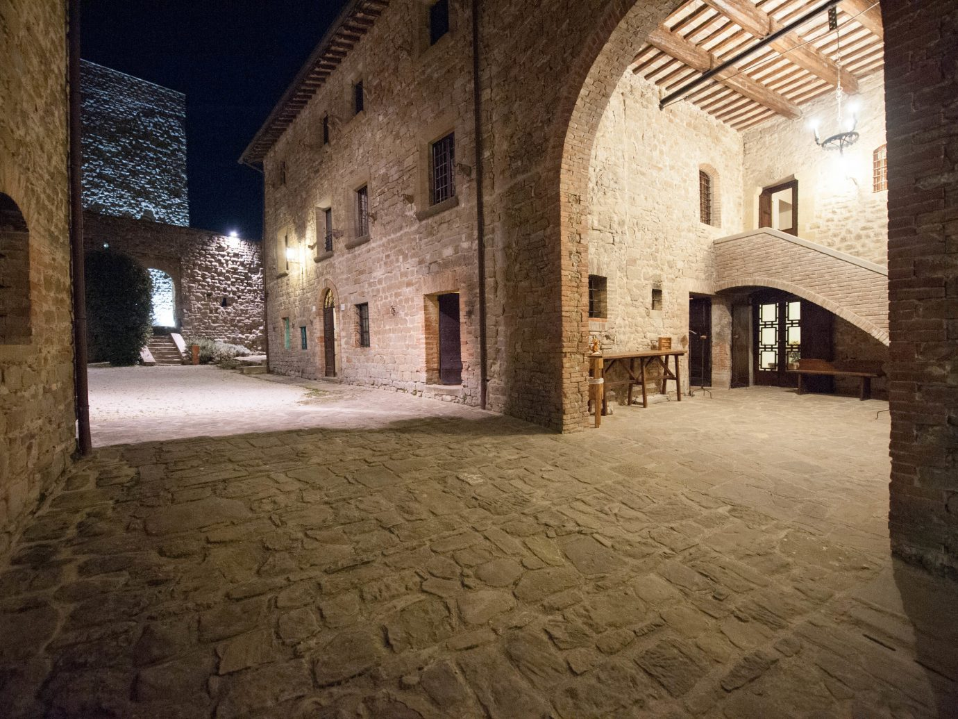 europe Hotels Italy Romance building brick stone alley wall night ancient history street estate lighting Courtyard walkway arch