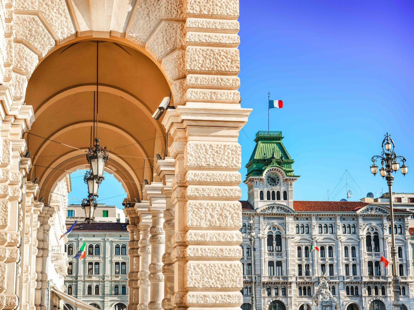 europe Italy Off-the-beaten Path Trip Ideas landmark arch building Town structure sky column tourist attraction classical architecture City facade tourism metropolis historic site window palace plaza