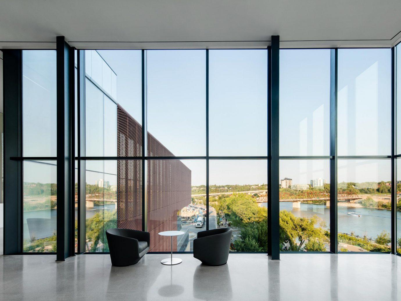 Remai Modern, Saskatoon, Saskatchewan museum interior view window