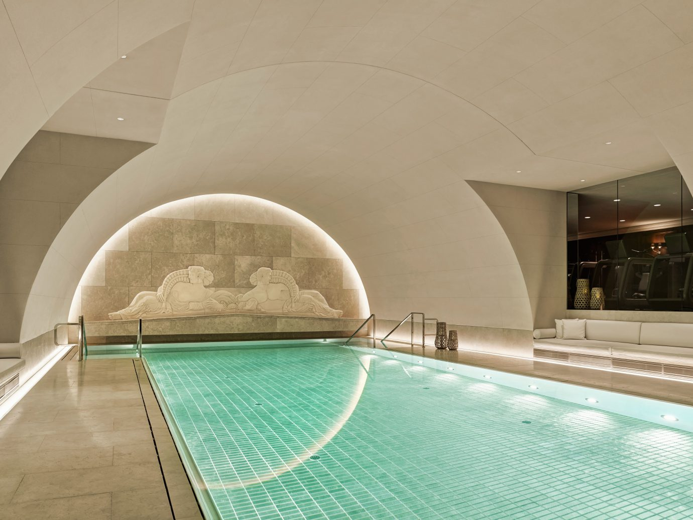 Austria europe Fitness Hotels Lounge Pool Sport Vienna Wellness indoor floor property swimming pool room Architecture estate interior design step