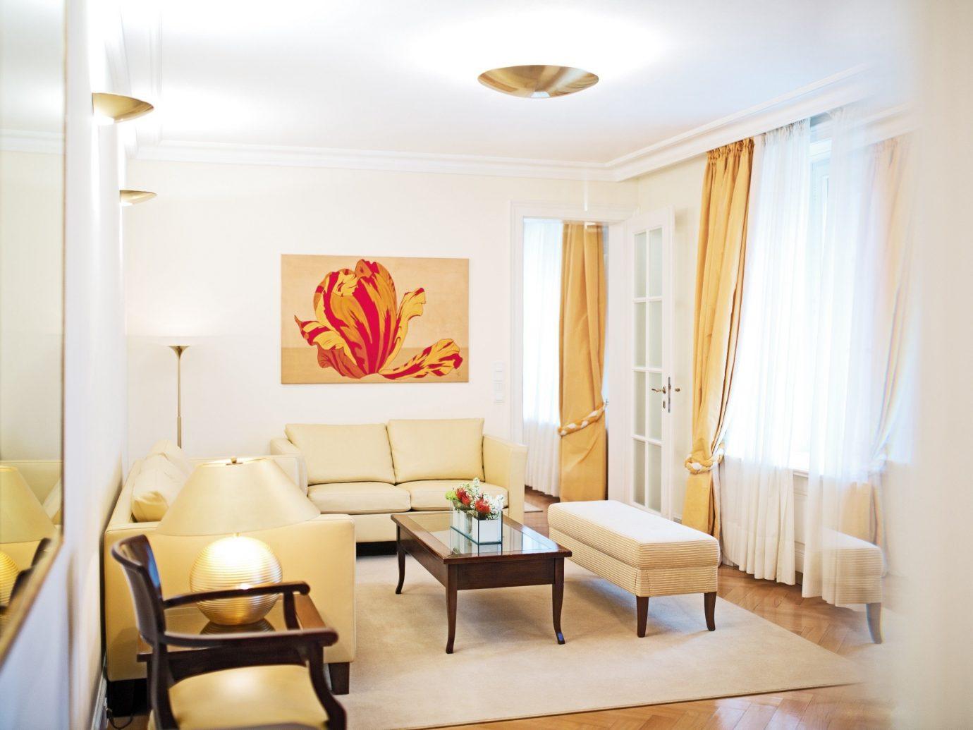 Austria europe Hotels Vienna indoor wall floor room Living interior design ceiling living room Suite furniture real estate apartment interior designer Bedroom decorated
