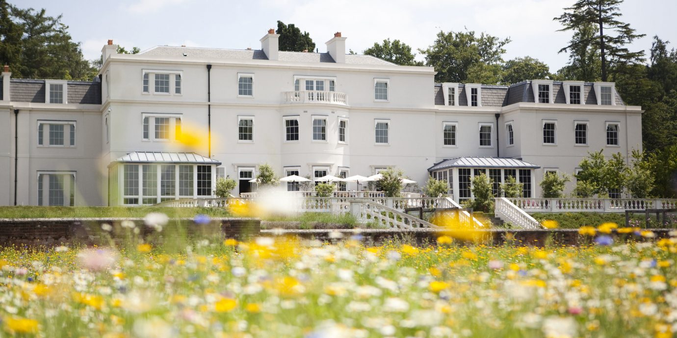 England europe London Luxury Travel Romantic Hotels yellow flower home house estate plant cottage spring real estate water Villa meadow tree mansion building
