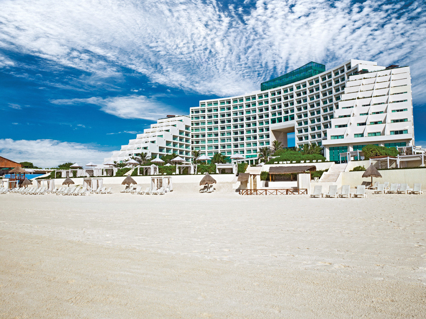 Adult-only All-Inclusive Resorts Beach Beachfront Cancun Exterior Hotels Mexico Ocean Resort outdoor body of water Nature Sea vacation walkway shore Coast boardwalk people sand sandy day several