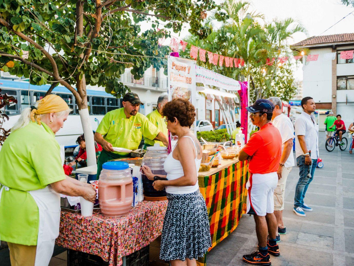 Food + Drink Mexico Puerto Vallarta street recreation marketplace market leisure tourism food City