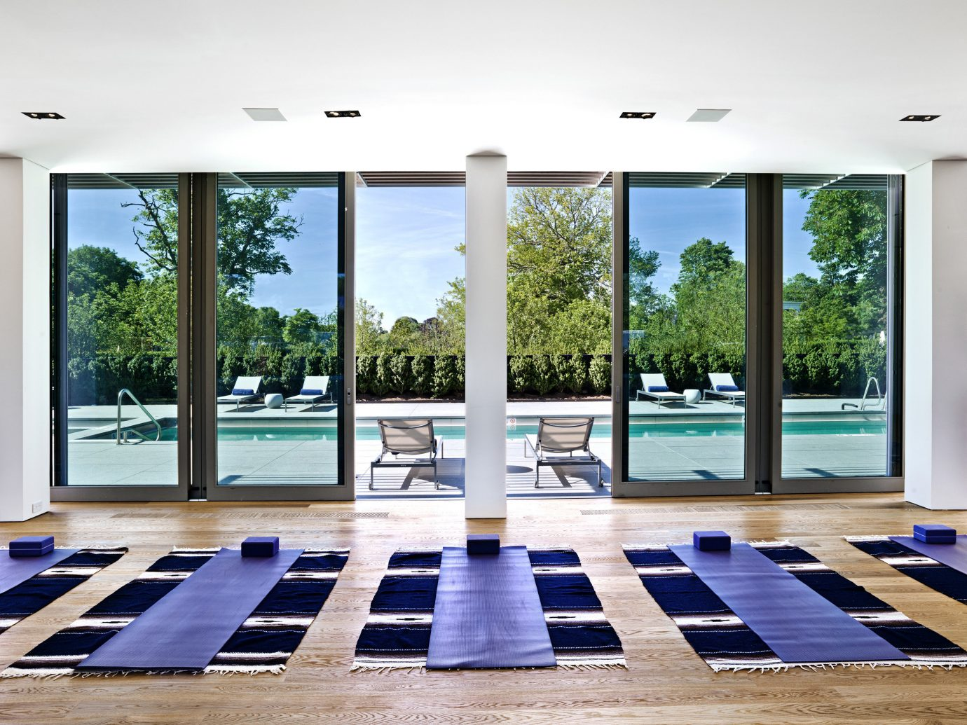 Topping Rose House. Boutique Luxury Modern Pool Sport Wellness building property outdoor floor window estate home interior design condominium living room daylighting flooring wood Design window covering glass furniture empty lined