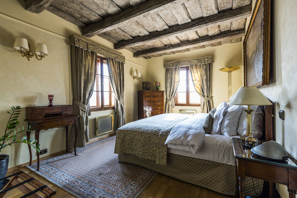 europe Hotels Prague indoor bed wall room floor Bedroom property hotel estate building cottage Villa home mansion living room farmhouse interior design real estate Suite condominium