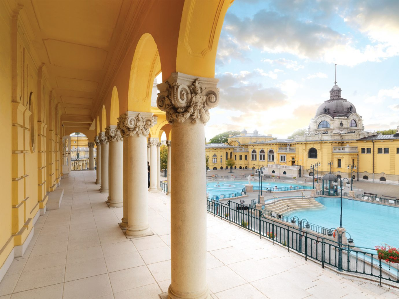 Architecture Budapest Buildings City Elegant europe Historic Hotels Hungary Landmarks Natural wonders Waterfront building palace estate plaza temple walkway colonnade