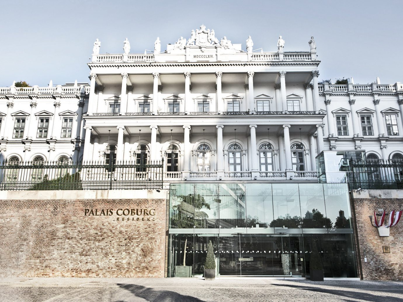 Austria europe Hotels Vienna landmark building classical architecture palace facade history plaza City window town square