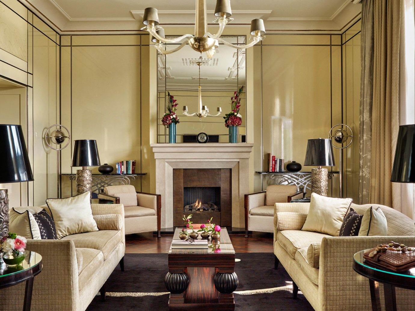Budapest cozy Elegant europe extravagant fancy Fireplace homey Hotels Hungary interior living area living room Lounge Luxury regal sophisticated Suite indoor Living wall room table sofa floor window home interior design furniture estate hardwood ceiling mansion decorated area