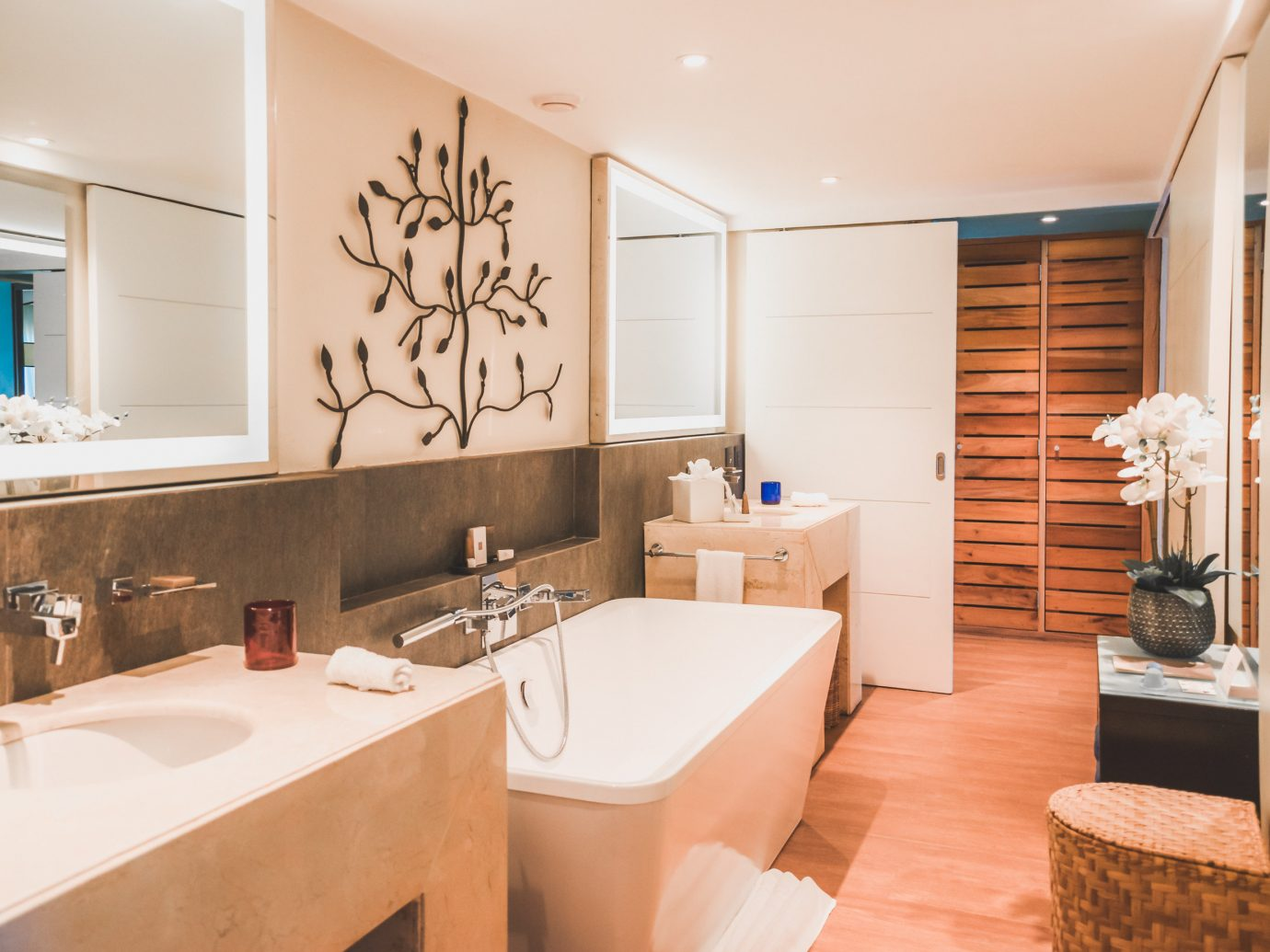 All-Inclusive Resorts caribbean Family Travel Hotels indoor wall bathroom floor room window interior design ceiling sink Suite home real estate estate interior designer tub Bath bathtub