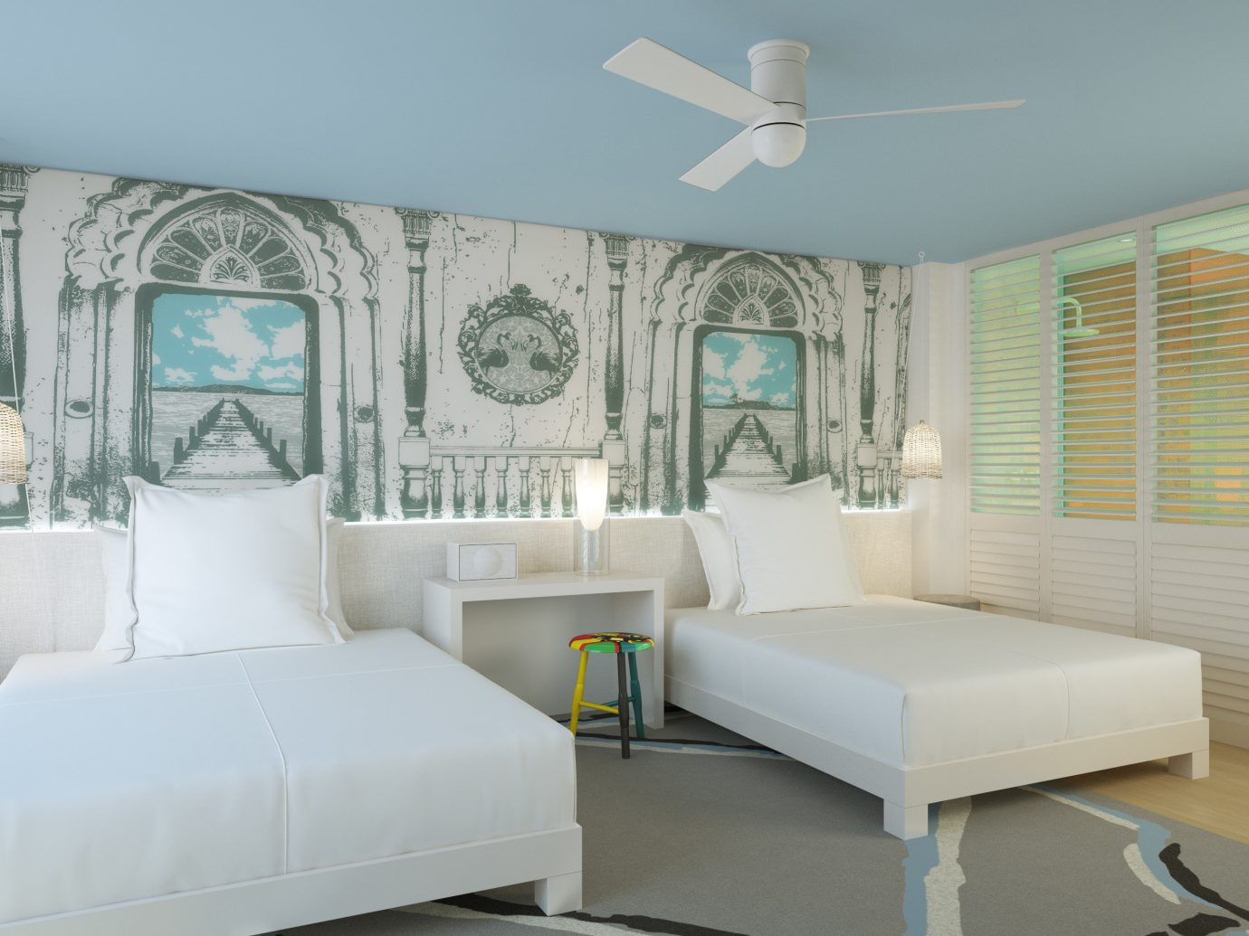 Bahamas caribbean Trip Ideas indoor wall floor room interior design ceiling bed frame home Architecture Bedroom bed window estate Suite real estate bed sheet window covering interior designer window treatment furniture living room mattress