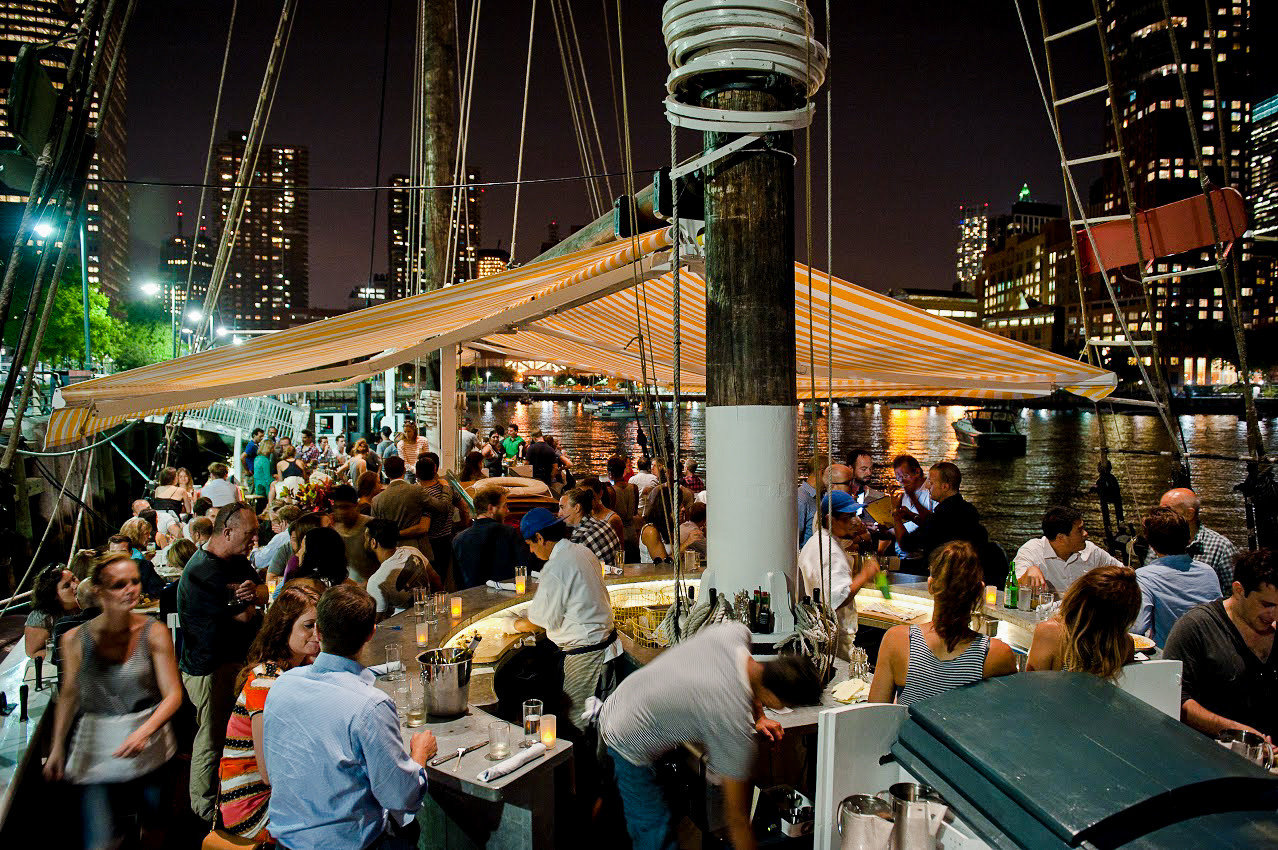 Food + Drink NYC person people outdoor crowd group night City recreation crowded
