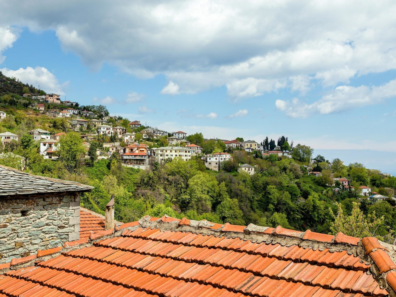 europe Outdoors + Adventure Trip Ideas roof sky historic site Village outdoor structure cloud hill station real estate house tree mountain tourism