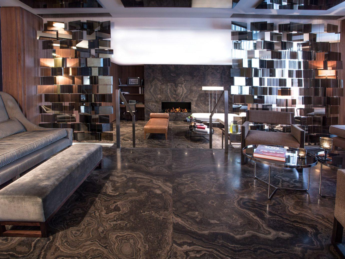 europe Fireplace Hip Hotels Living Lounge Modern Prague Resort indoor floor room Lobby property living room ceiling interior design home estate Design flooring furniture