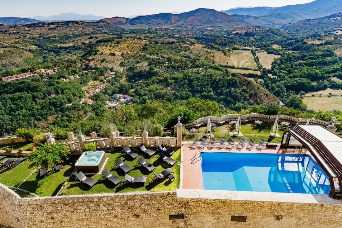 europe Hotels Italy Romance property photography leisure estate real estate Resort swimming pool bird's eye view tourism tree aerial photography sky landscape water Villa resort town reservoir Village City